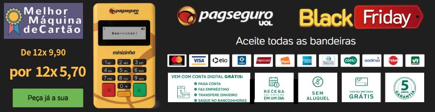 Minizinha PagSeguro na oferta Black Friday - Clique e peça com desconto