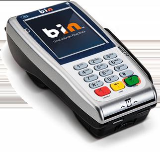 Máquina de Cartão BIN - First Data - Máquinas Bin