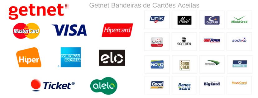 Getnet - Bandeiras de Cartões Aceitas