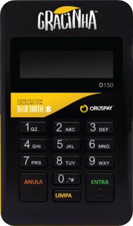 Gracinha-Oruspay-Maquina-de-Cartões-de-Crédito-e-Débito-Pagamentos-Móveis
