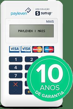 Máquina de cartões Payleven Mais tem 10 anos de garantia