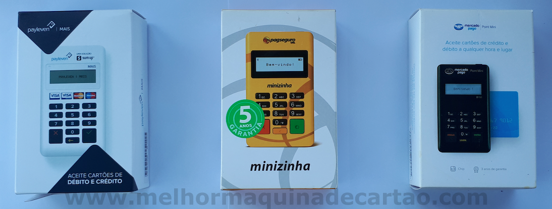 Maquininha de Cartões D150 Pax  - Payleven Mais - Minizinha - Point Mini -