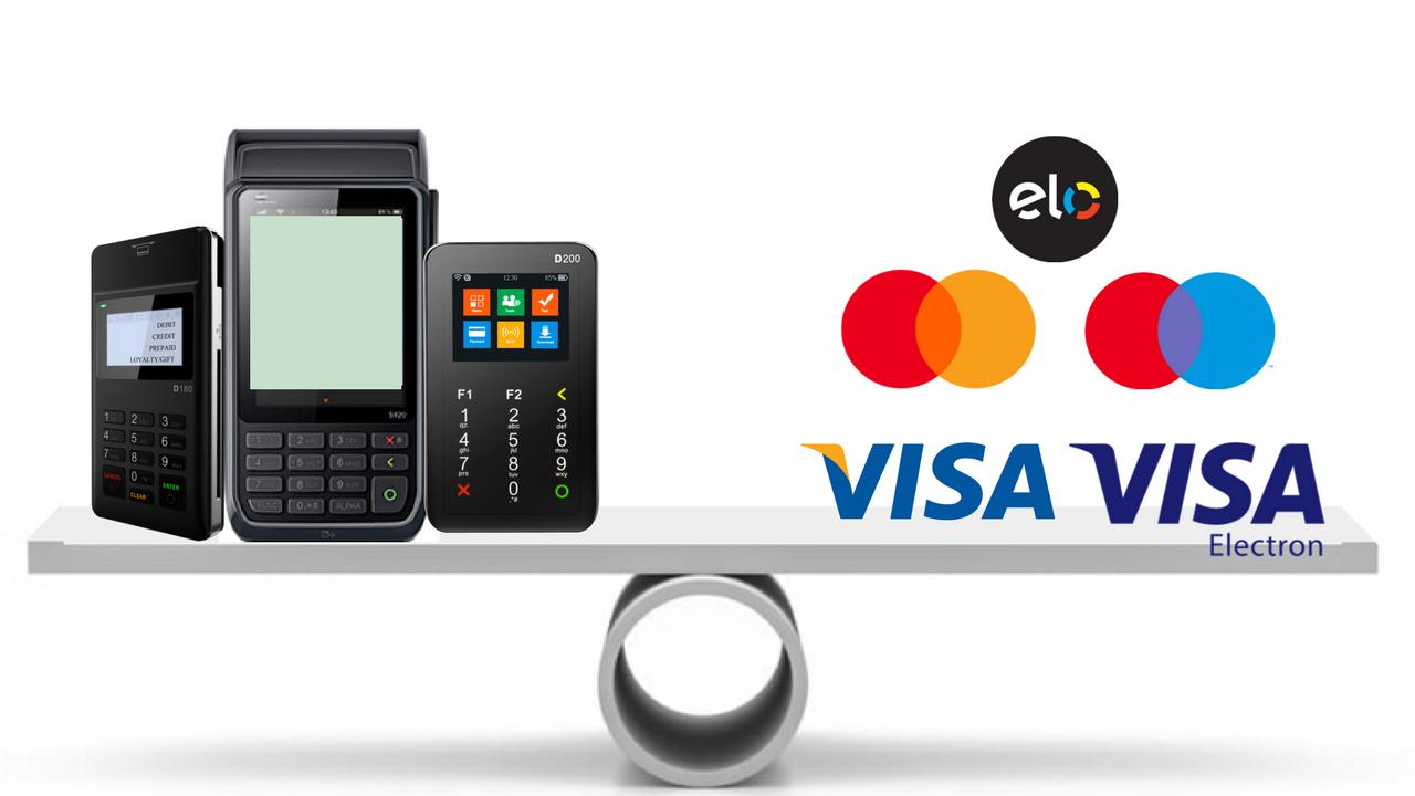 Maquininhas que passam Elo, Visa e Mastercard [sem aluguel]