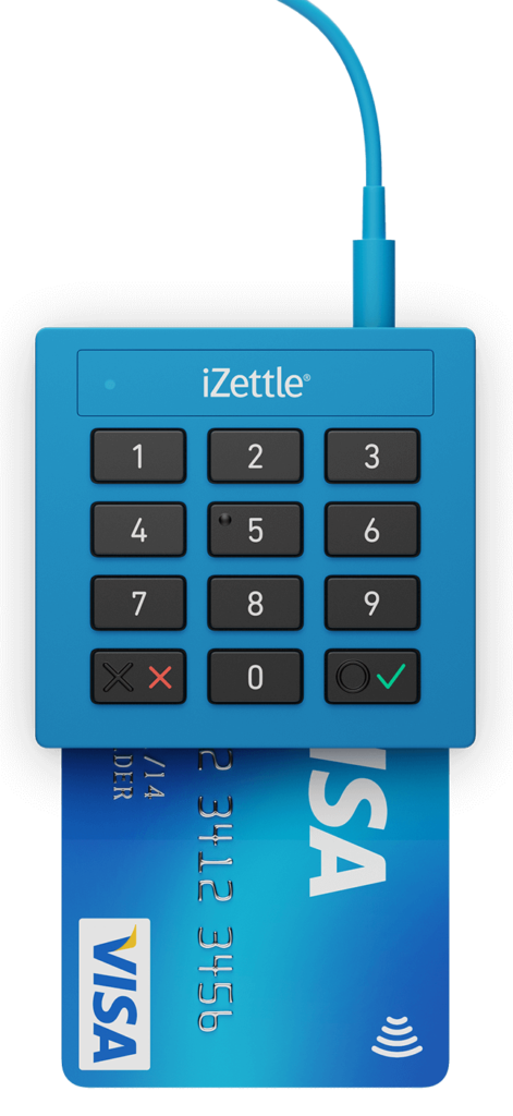 Elo Visa e Mastercard - Aceitos na Maquina iZettle Lite -