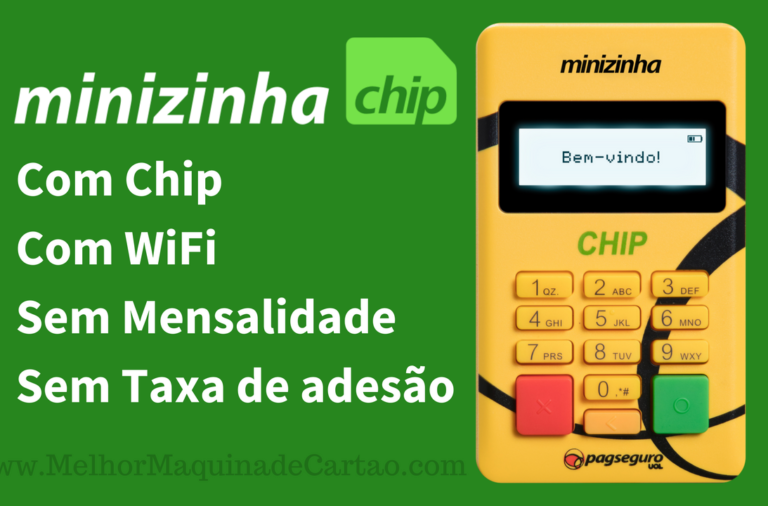 Minizinha Chip Máquina de cartões com chip e wifi sem mensalidade e sem taxa de adesão