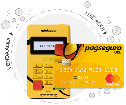 Minizinha Chip + cartão Pré-pago PagSeguro