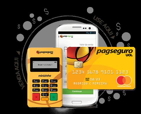 Minizinha PagSeguro Funciona com Aplicativo e tem Cartão Pré-Pago Mastercard Grátis
