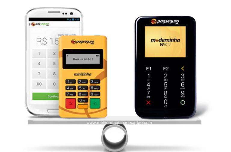 Minizinha ou Moderninha WiFi PagSeguro - Comparativo de Máquinas de Cartões Taxas e Uso