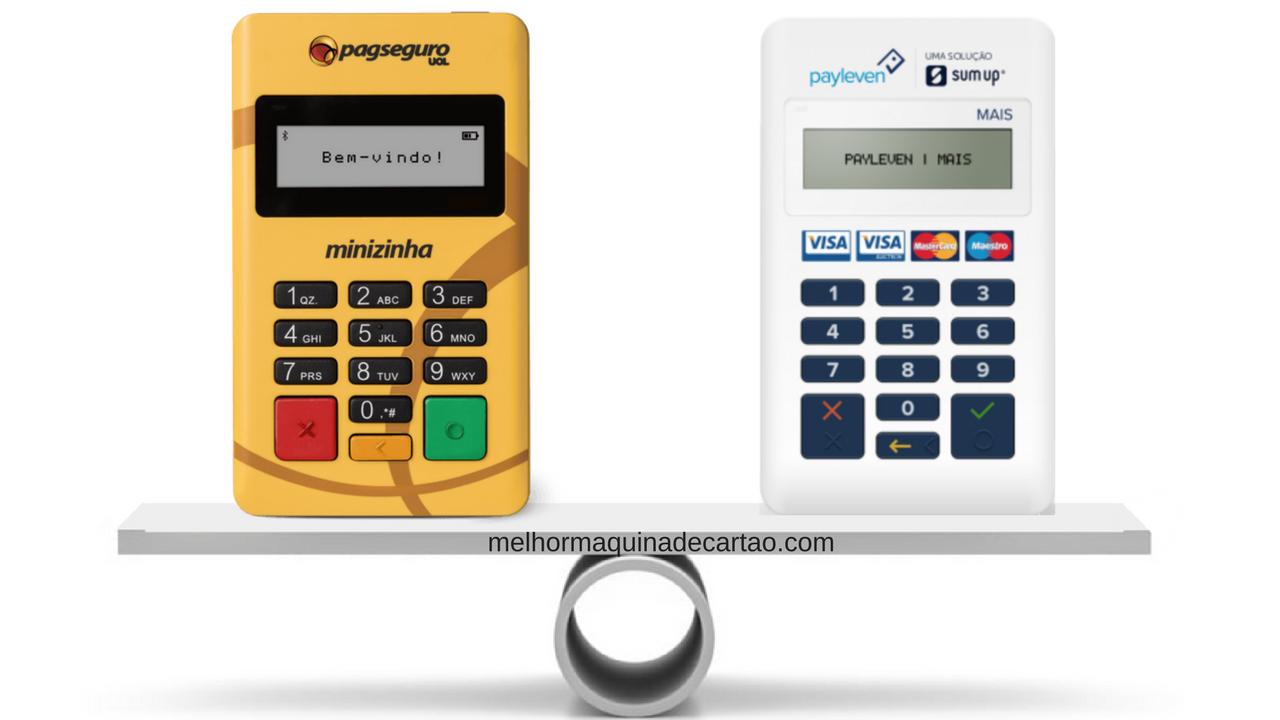 Minizinha ou Payleven Mais - Comparativo -Qual a Melhor Máquina de Cartões?