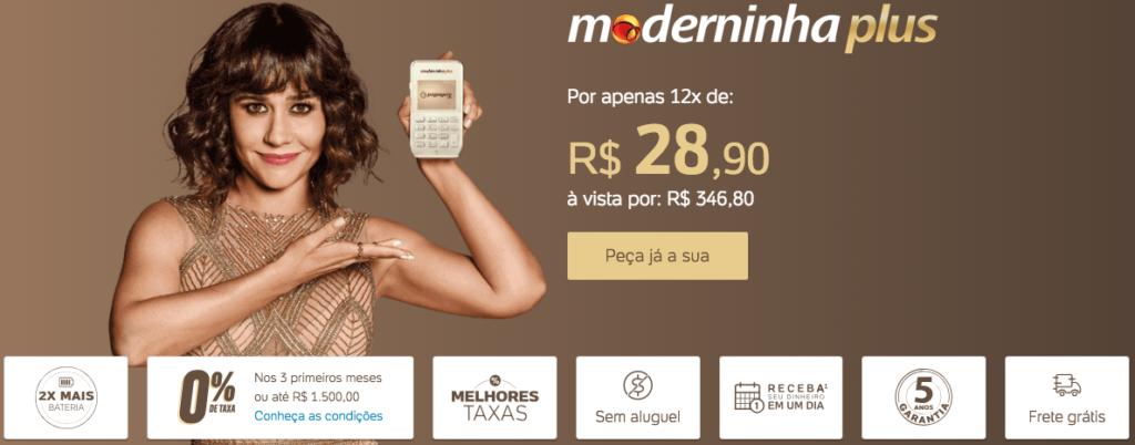 Moderninha Plus PagSeguro vantagens e Benefícios