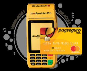 Moderninha Pro + Cartão Pré-Pago PagSeguro Mastercard