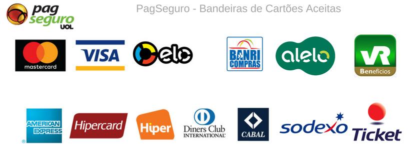 PagSeguro - Bandeiras de Cartões Aceitas