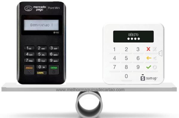 Point Mini e SumUp Top - comparativo de máquinas de cartões