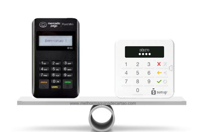 Point Mini e SumUp Top- comparativo de máquinas de cartões