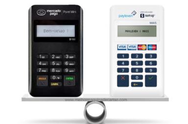 Point Mini e Payleven Mais - Comparativo de melhor máquina de cartões para celular.
