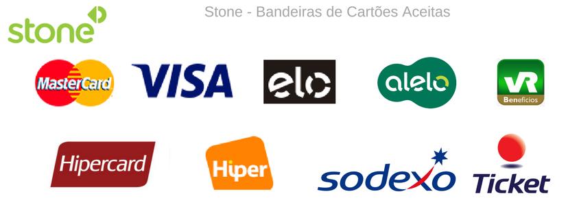 Stone - Bandeiras de Cartões Aceitas