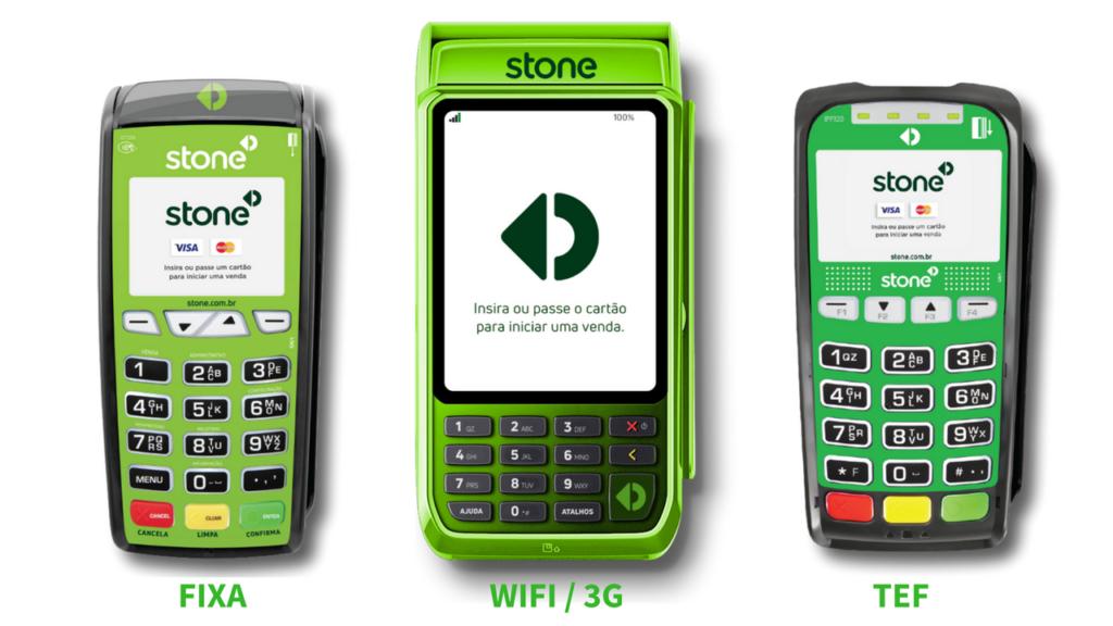 Stone Pagamentos - Máquinas de Cartões Fixa, Wi-Fi-3G e TEF
