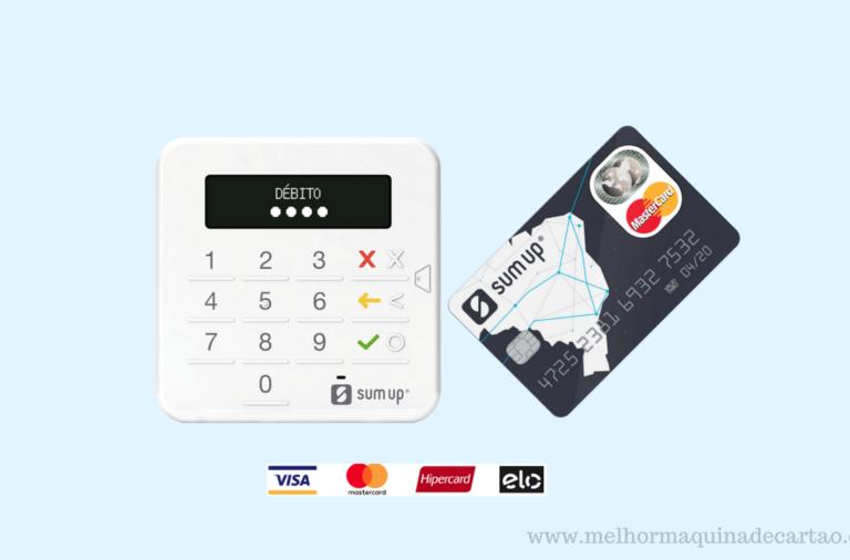 Maquininha de Cartões SumUp Top + Cartão Mastercard Pré-Pago